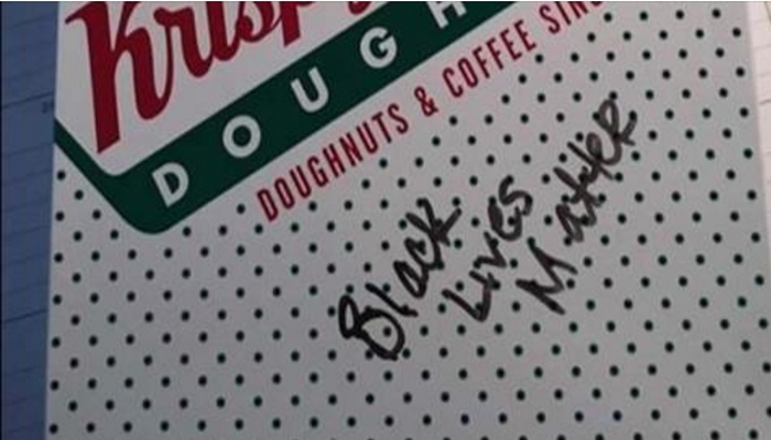 "Krispy Kreme Employee Writes ""BLACK LIVES MATTER"" on Officer's Order [VIDEO]"