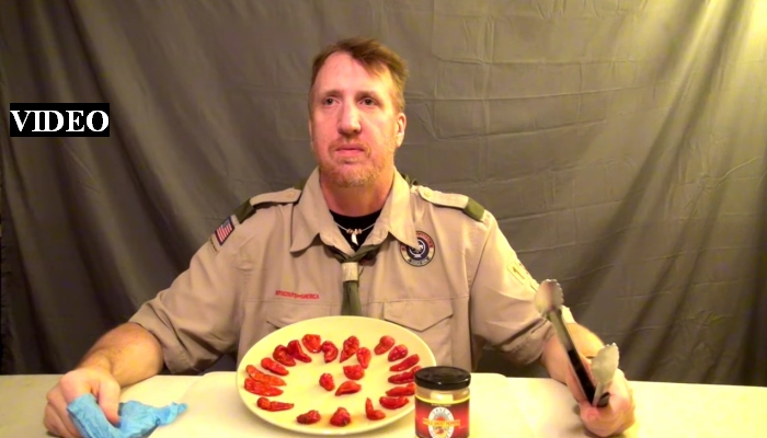 Scout Leader Chomps Down On 23 GHOST PEPPERS, Learns A Painful Lesson [VIDEO]