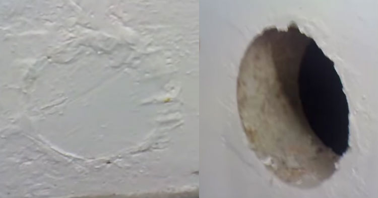 Man Finds Hidden Room Behind Mysterious Plastered Hole In His Basement
