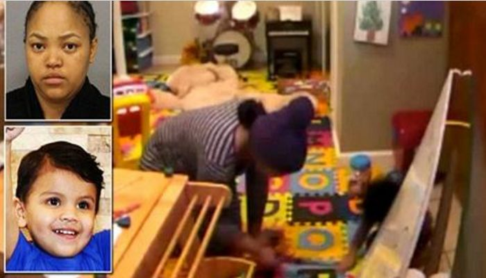 Nanny Is Caught On Camera BURNING Child's Legs With Curling Iron