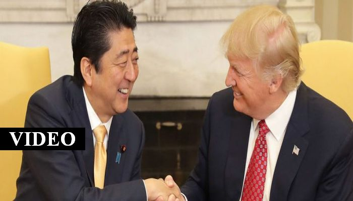 The Face Japan's Prime Minister Made When Shaking Trump's Hand Is Must-See