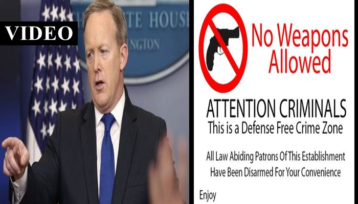 Is President Trump Going To Get Rid Of Gun-Free Zones As Promised? Sean Spicer Answers