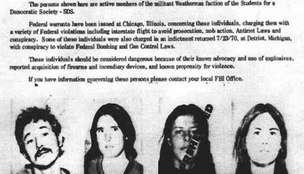 The Weather Underground FBI Wanted Poster