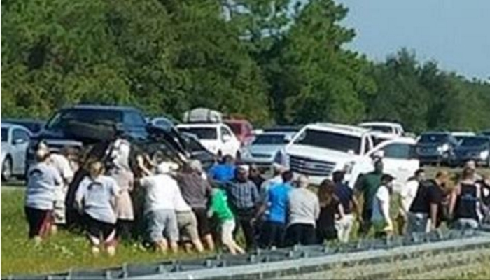 Witness Takes Photograph Of Horrible Wreck After Noticing What's In The Crowd