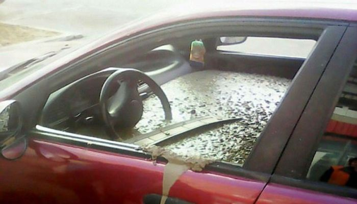 Woman Discovers Her Car Is Filled With Cement, Then She Realizes Why [VIDEO]