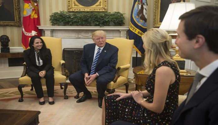 This Photo Of Trump With Freed Aid Worker Has Sparked Controversy; Can You See Why?