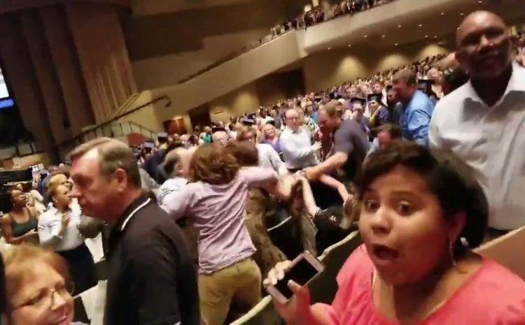 [WATCH] Parents Bring Graduation To Halt As Fists 'n Fur Fly