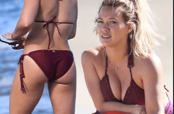 Hillary Duff in a Bikini… Judging From Her Top, The Water Must Be Cold [VIDEO and PHOTOS]
