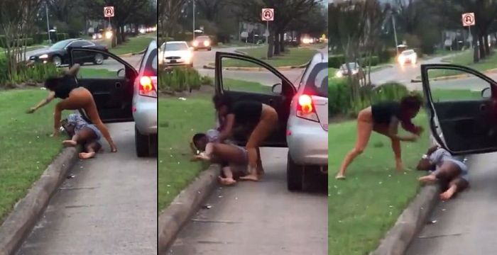 Motorists Observe Violent Scenario Unfolding, Then Quickly Realize What's Happening