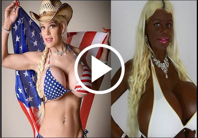 White Model With Huge Breasts Turns Black. See It For Yourself [VIDEO]