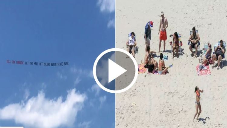 Banner Tells NJ Gov. Chris Christie: 'Get the Hell Off' The Beach [WATCH]