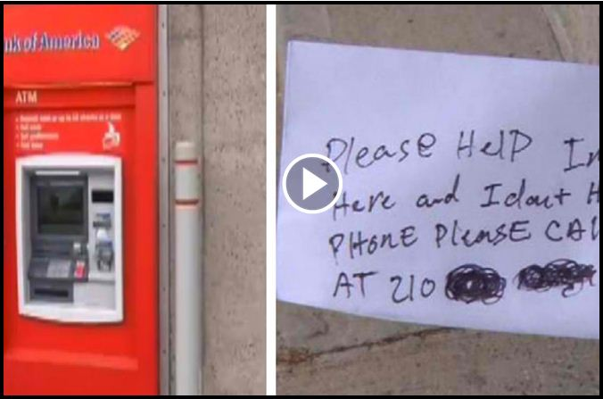 ATM Customer Shocked When They Realized Why A 'Help' Note Came Out Of The Receipt Slot [VIDEO]