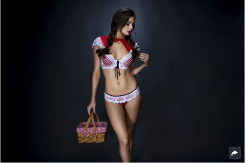 Little Red Fantasy Lingerie Costume ($26)