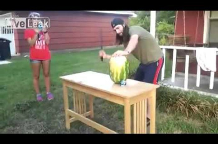 A Man, a Sword and a Watermelon: What Could Possibly Go Wrong? [VIDEO]
