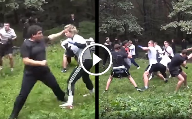 Tough Blonde Girl Goes Viral After Her Performance In 7 on 7 Hooligan Fight