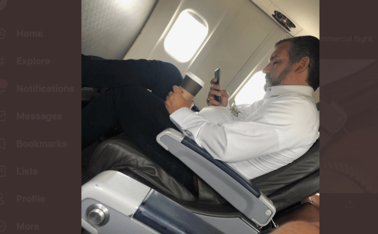 Ted Cruz Under Investigation by American Airlines After GOP Senator Spotted without 'Mandatory Face Mask' While Drinking Coffee