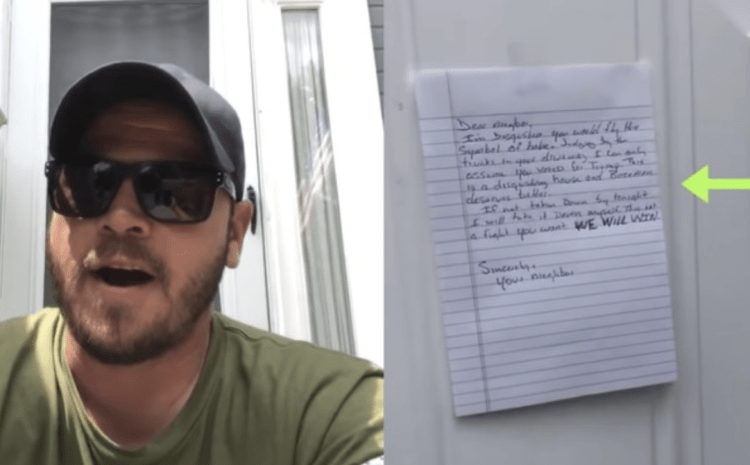 Liberal Neighbor Complains About Veterans 'Symbol Of Hate On His Property, Watch His EPIC Response
