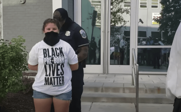 DC Police Arrest Pro-Lifers for Chalk on Sidewalk in Same City with Huge BLM Mural