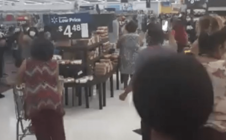 Watch What Happens When a Christian Church Meets To Worship At Walmart After Being Forced To Shut Down