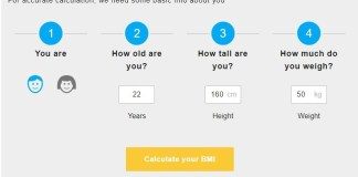 BMI Calculator Using Inches and Pounds