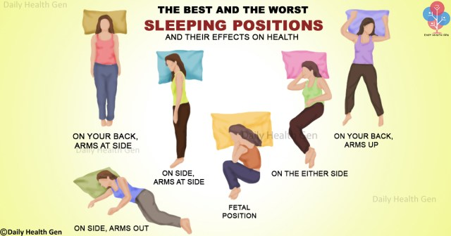 The best and worst sleeping position and their effect on health