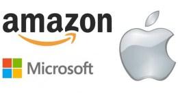 Amazon, Microsoft and Apple