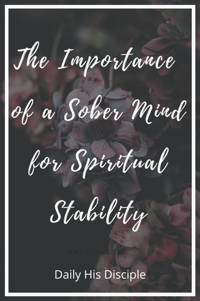 The importance of a sober mind for mental stability