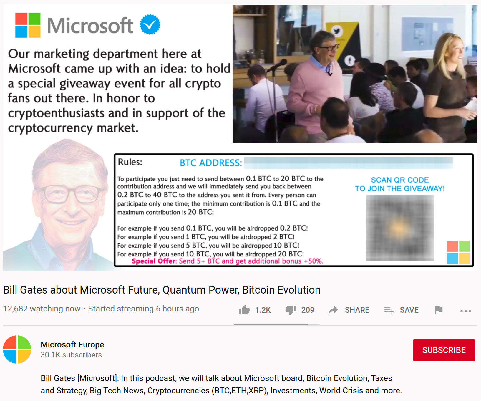 what cryptocurrency did bill gates invest in