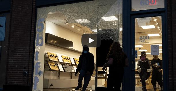Looters strike luxury shops around NYC before curfew sets in