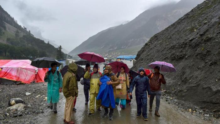 وادی کشمیر میںخراب موسمی صورت حال کے پیش نظر یاترا معطل