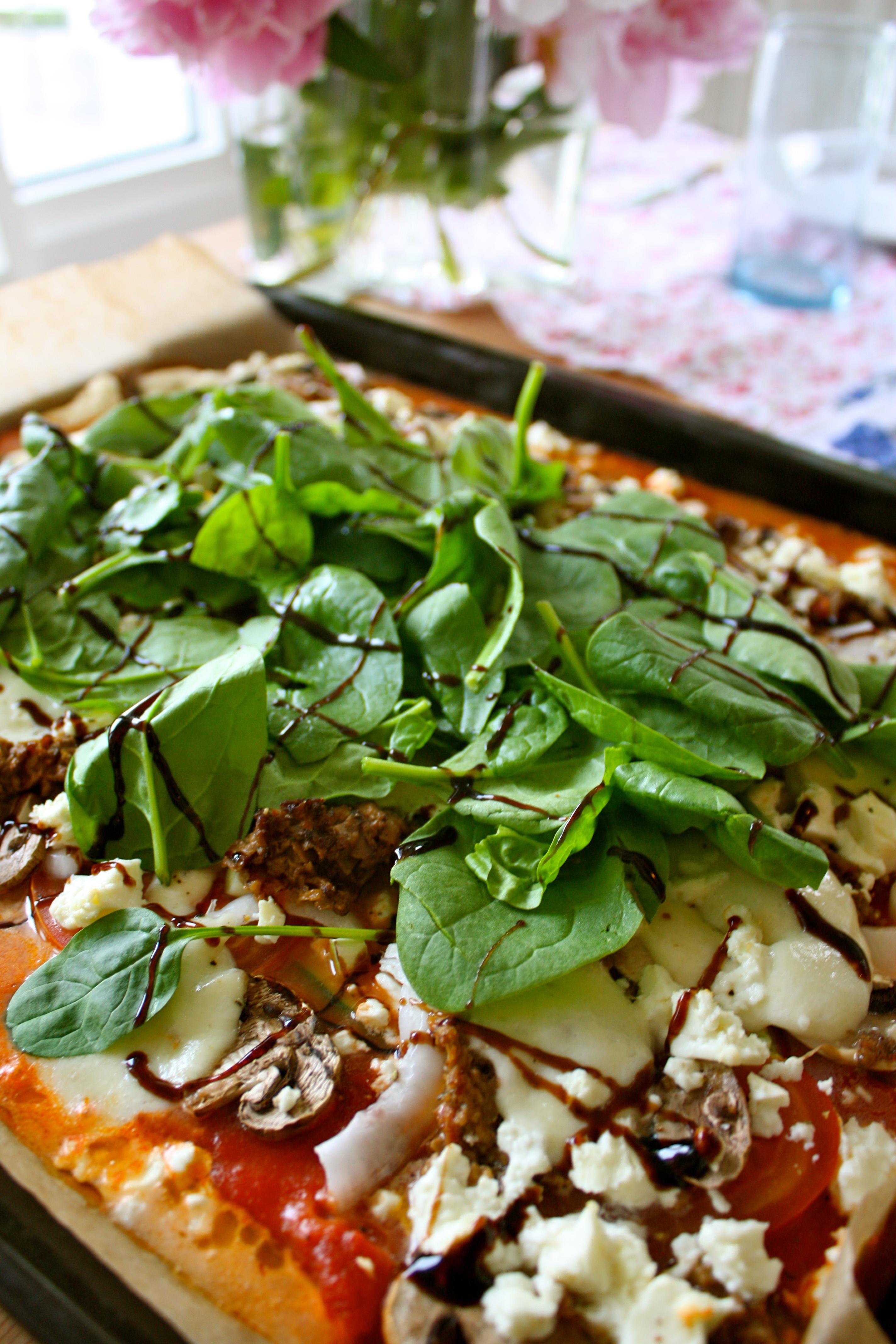 vegetarisk zucchini pizza vegetarian