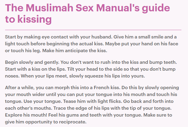 kiss muslim