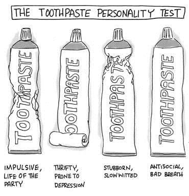 personality toothpaste test