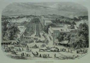 """""""Chandnee Chauk, principale rue de Delhi,"""" from 'L'Illustration', 1867"""