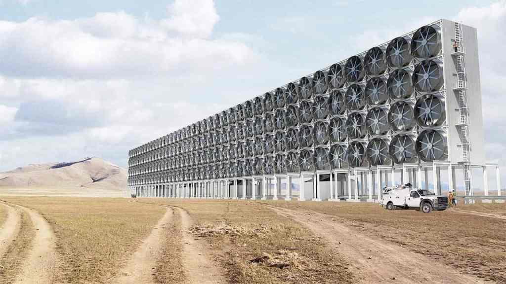 Carbon-sucking fans