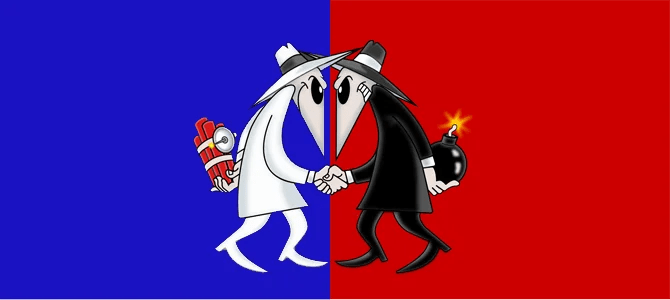Spy vs Spy. Picture courtesy bluenred.com
