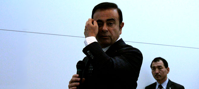 Ghosn thinks  - Picture courtesy Bertel Schmitt