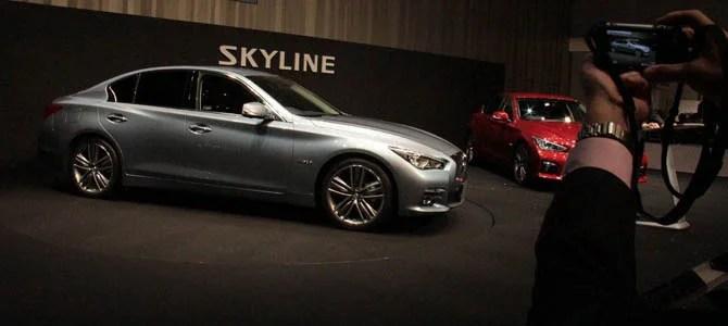 Hasn't been axed: The new Nissan Skyline