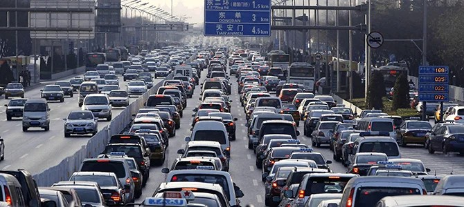 Beijing traffic- picture courtesy autoblog