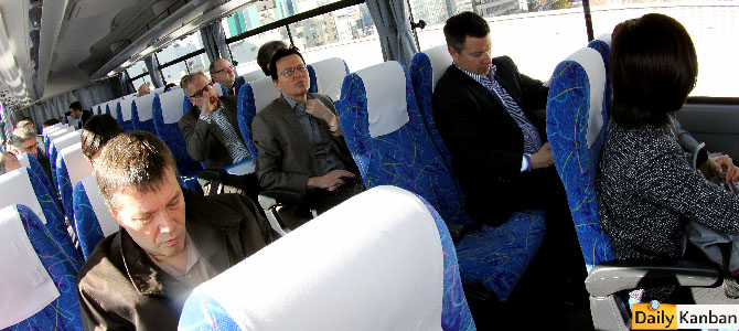 The boys in the bus. The man on the rioght is Reuters' future Whitehouse reporter Kevin Krolicki