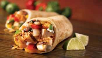 burrito chicken delicious dinner