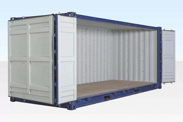 Open side container -container types daily logistics