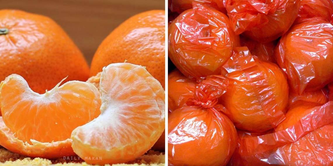 Risiko Makan Limau Mandarin Tanpa Dibasuh