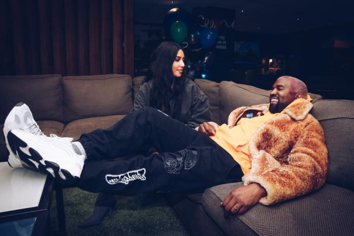 Kim Kardashian West and Kanye West attend the Travis Scott Astroworld Tour 2018 (Getty Images)
