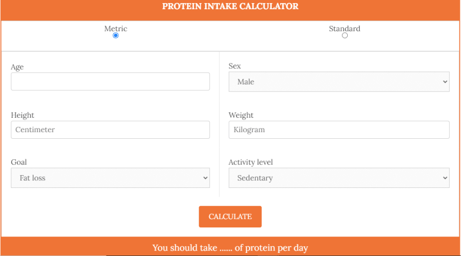 Protein Intake Calculator 1 - Daily Medicos