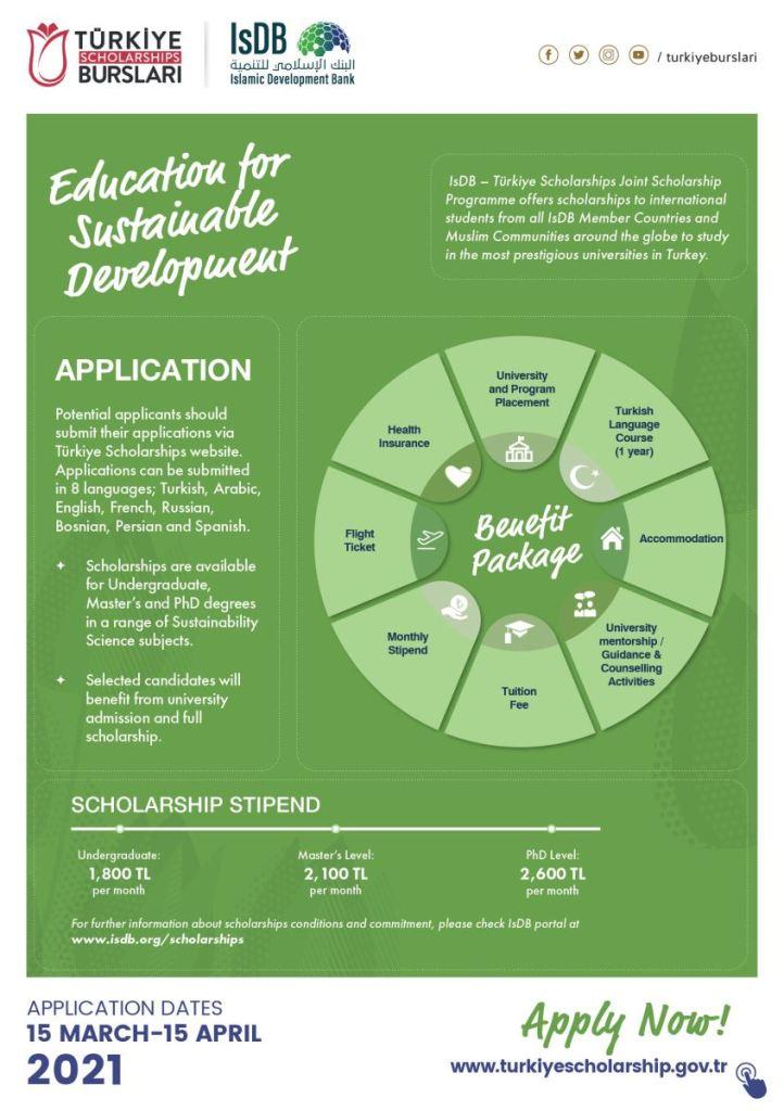 IsDB Turkey Scholarships 2021-22 | Fully Funded | Study in Turkey 2 - Daily Medicos