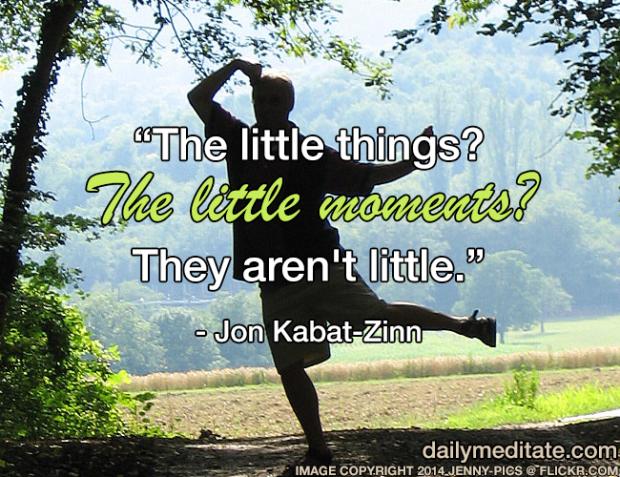 """The little things? The little moments? They aren't little."" – Jon Kabat-Zinn"