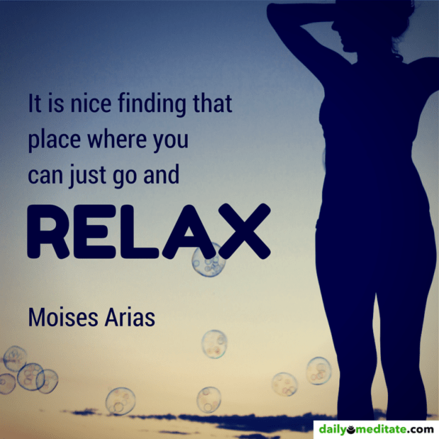 """""""It is nice finding that place where you can just go and relax."""" – Moises Arias"""