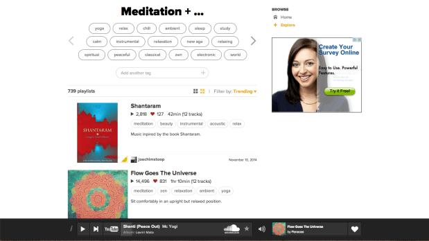 8tracks Meditation Music Playlists
