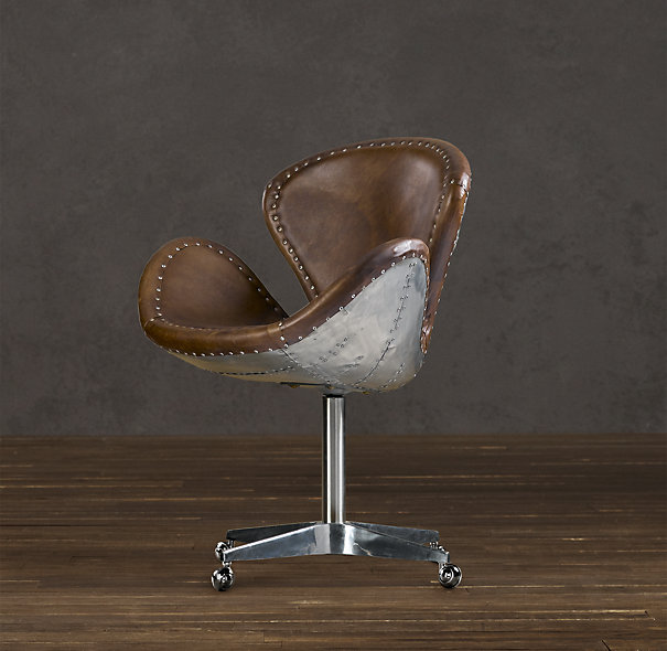 tub chair brown leather modern grey office the milk crate | dailymilk - part 2